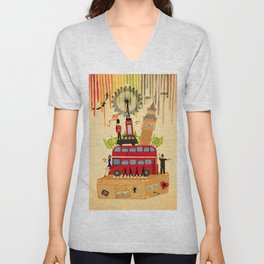 Rainbow Cities ~ London Unisex V-Neck