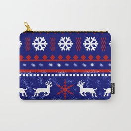 Christmas Reindeer Pattern Carry-All Pouch