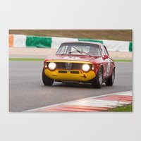 gta Canvas Prints featuring Alfa Romeo GTA by ClassicPressCenter