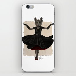 Twirling, Twirling, Couture Kitty iPhone Skin