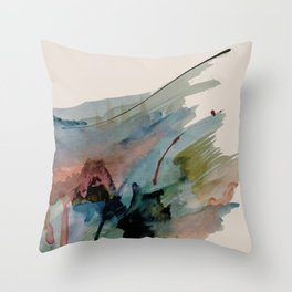 Begin again [2]: an abstract mixed media piece in a variety of colors Throw Pillow