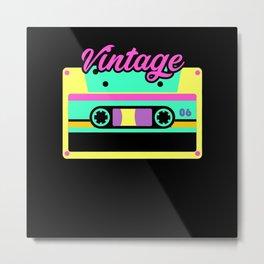 Vintage Cassette 80s 90s Shirt Disco Metal Print