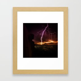 Storm seen from a helicopter by GEN Z Framed Art Print