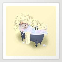 Little Sunshine Bubble Bath Art Print