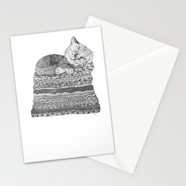 Sleeping Cat Stationery Cards