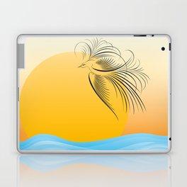 Flying bird - calligraphy Laptop & iPad Skin