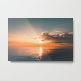 Whitehaven Sunset Metal Print