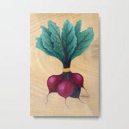 beet bunch Metal Print