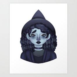 The Gloomy Witch Art Print