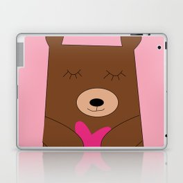 Bear in love pink Laptop & iPad Skin