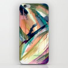 Brave -  a colorful acrylic and oil painting iPhone Skin