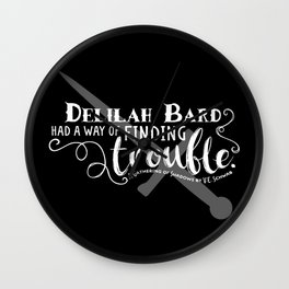Finding Trouble (on dark) Wall Clock