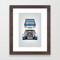 Outline Series N.º7, MG Metro 6R4, 1986 Framed Art Print