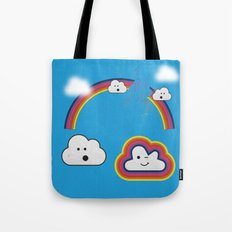 The Great Rainbow Cloud Robbery Tote Bag
