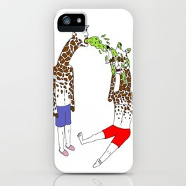 giraffe boyz iPhone Case