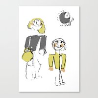 shopping Canvas Prints featuring shopping by Josephine Walz
