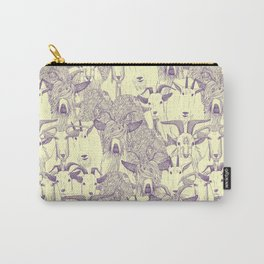 just goats purple cream Carry-All Pouch