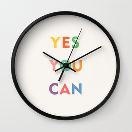Yes You Can Wall Clock