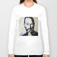 steve jobs Long Sleeve T-shirts featuring Steve Jobs by Phil Fung