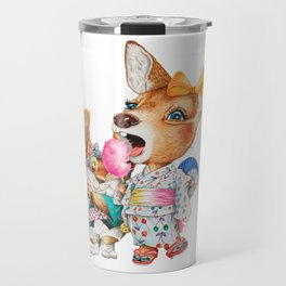 A child deer and squirrel at the summer festival Travel Mug