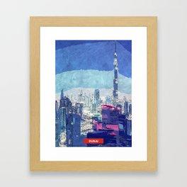 Dubai city skyline Framed Art Print