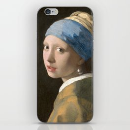 Johannes Vermeer - Girl with the pearl earring (1665) iPhone Skin
