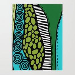 Green Dive -Plongeon vers-textures Poster