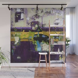 Controversy Prince Deep Purple Abstract Painting Modern Art Wall Mural