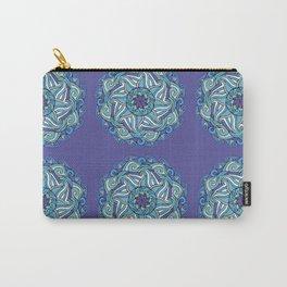 Purple & Blue Mandala Waves Carry-All Pouch