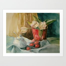 White tulips_1 Art Print