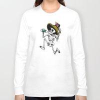calavera Long Sleeve T-shirts featuring DANCING CALAVERA  by Alberto Corradi