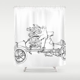 Astronomy Cat Shower Curtain