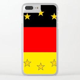 German European Union Flag Clear iPhone Case