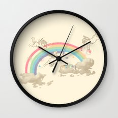 Painting The Sky Wall Clock