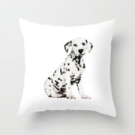 Cute Dalmatian 3 Throw Pillow