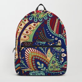 Colorful khohloma pattern Backpack