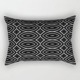 Black & White One Rectangular Pillow