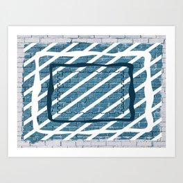 striped stamp Art Print
