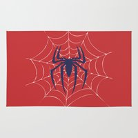 spider Area & Throw Rugs featuring Spider by Vickn