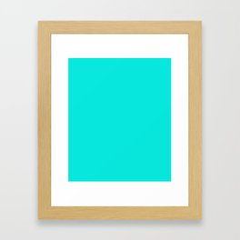 Bright Turquoise - solid color Framed Art Print