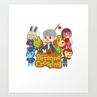 persona Art Prints featuring Persona Crossing by Cassie S