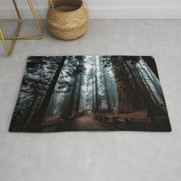 Lost in the Foggy Forest Rug