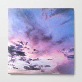 fly up to the blue pink sky Metal Print