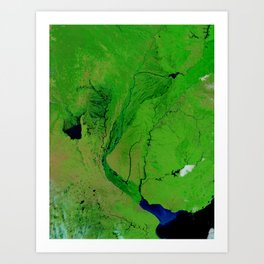 Floods in Argentina Art Print