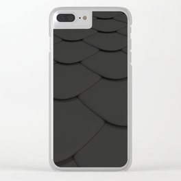 Pattern of black rounded roof tiles Clear iPhone Case
