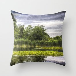 Lily Pond Art Throw Pillow