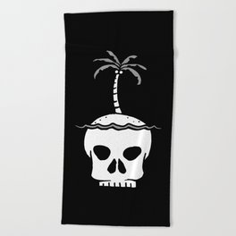 Skull Island – Black Beach Towel