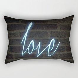 Neon Love Rectangular Pillow