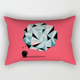 The Pondering Rectangular Pillow
