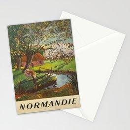 Werbeposter normandie societe nationale des Stationery Cards